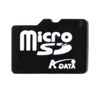 MP3 prehrávač do 5GB - Adata Micro SecureDigital card 1GB + adapter