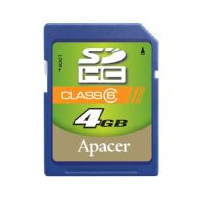 Klasické SD karty (SecureDigital card) - Apacer SecureDigital High Capacity card 4GB Class6