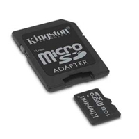 MP3 prehrávač do 5GB - KINGSTON MicroSD Card 1GB + adapter