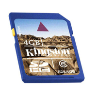 Klasické SD karty (SecureDigital card) - Kingston SD High Capacity card 4GB Class6